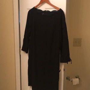 Black Talbots formal dress size 16 scalloped neck